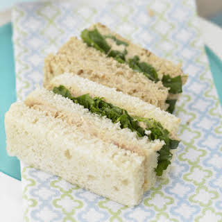 Tuna and Watercress Finger Sandwiches.