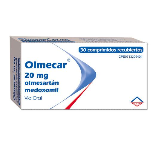 Olmesartan Medoximil Olmecar 20mg x30 Comprimido