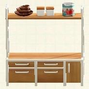 ウッド キッチン あつ 森 アイアン