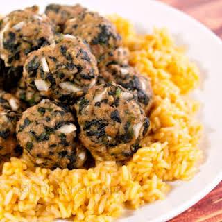 Turkey Spinach Meatballs.