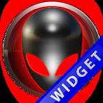 Poweramp Widget Red Alien Icon