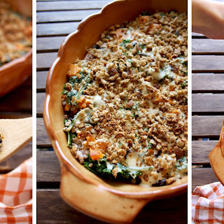Sweet Potato Casserole with Black Beans, Kale and Buckwheat.