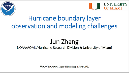 Jun Zhang participates in 2nd Boundary Layer Workshop