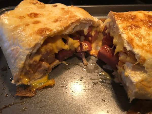 Jumbo Hot Dog And Fries Burrito Recipe