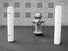 Photo: Project 365 Day 299-My First Day With The Rolleicord  I went out during lunch to play around with my new Rolleicord. I found this fire hydrant and took several shots of it with the Rollei using Ilford HP5 ISO 400 film. I then took this image with my little Canon S95 and converted it to B&W in Nik's Silver Efex Pro, using the Ilford HP5 setting. Hopefully this simulates what the image from the developed film will look like. We'll see...  I also discovered a few things that will make my getting used to this camera a bit of a challenge. Read more about that at my blog: http://www.marksphotographyspot.com/my-first-day-with-the-rolleicord/