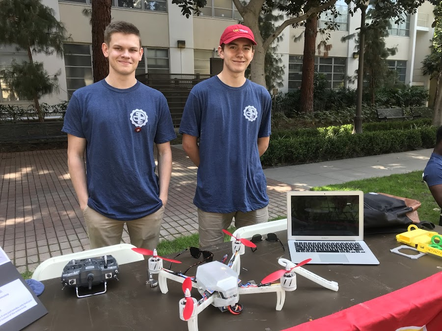 The Drone Team with their drone