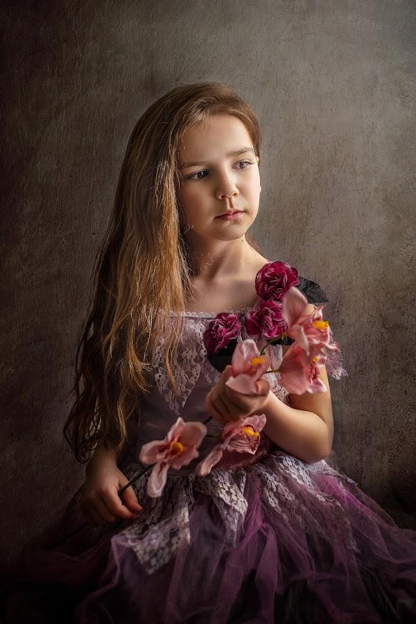 by Lazarina Karaivanova - Babies & Children Child Portraits ( art, flowers, portraits )
