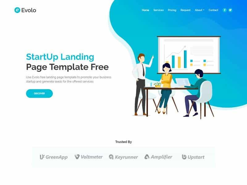 30 Best Free One Page HTML Website Templates - Wpshopmart