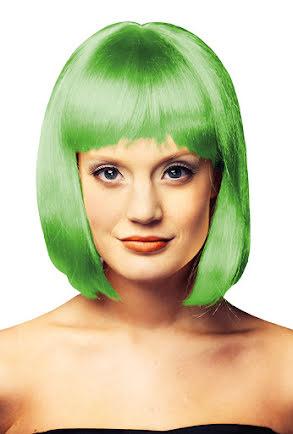 Peruk girly, grön