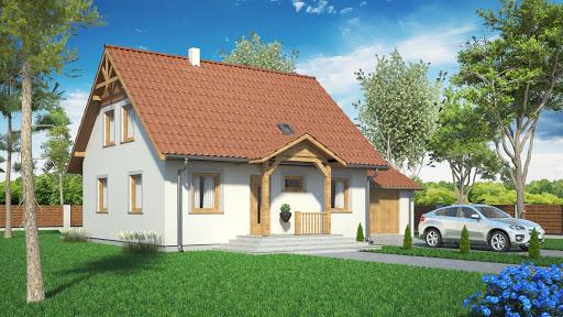 projekt Domek Ciepły z garażem