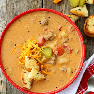 Classic Cheeseburger Soup.