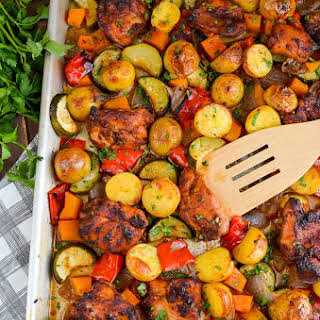 Chicken Potato And Vegetable Bake Recipes.