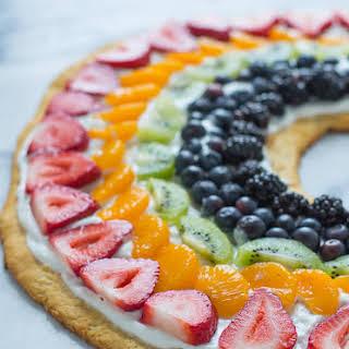 Rainbow Fruit Pizza.