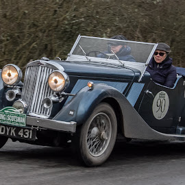 Car 90 by Andrew Lancaster - Transportation Automobiles ( motor, wheels, classic, racing, race, car, vintage, flying, people, rally, scotsman,  )
