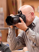Photo: Gallery photographer Mike Collela behind the lens where he feels very comfortable.