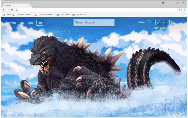 Godzilla Wallpaper King Of Monsters New Tab Free Addons