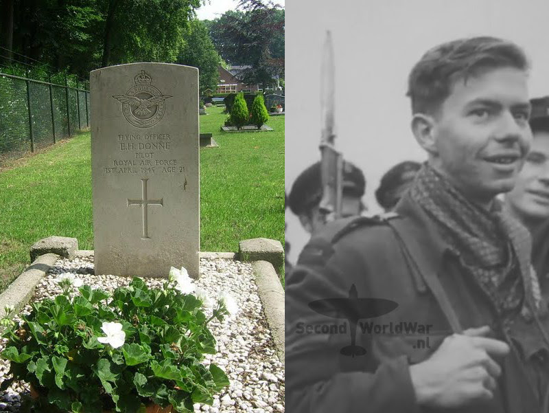 Piloot Flying officer E.H. (Edward Hendry) Donne - Royal Air Force, 266 Squadron