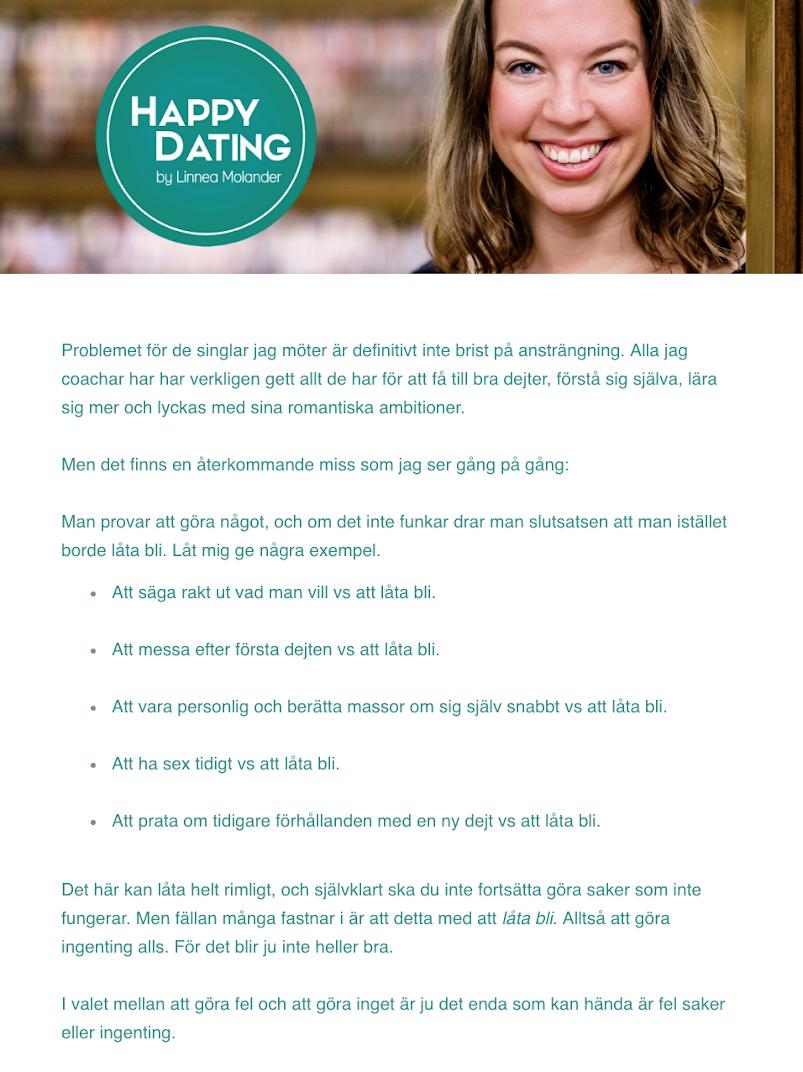 Dating fel