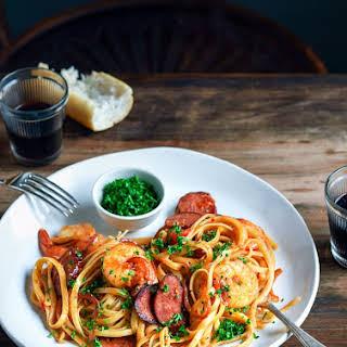 Prawn, Chorizo and Chilli Pasta.