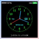 Live Clock Lock screen