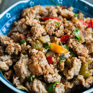 Mom'S Ground Turkey and Peppers Recipe
