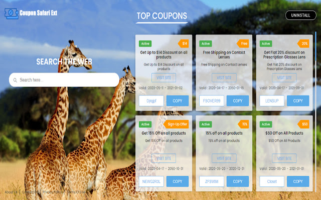 Coupon Safari Ext