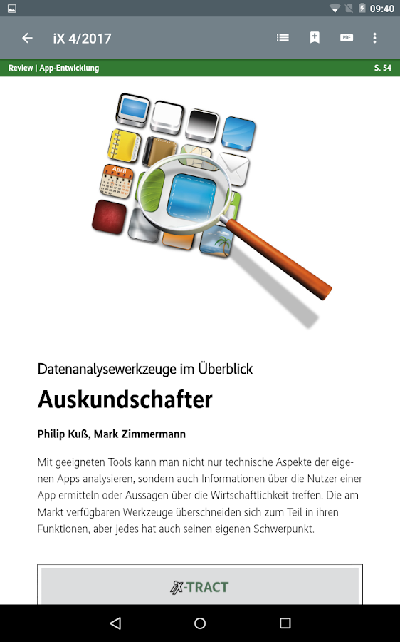 iX Magazin- screenshot