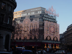 Photo: Near our hotel, one of the major department stores decorated for the holidays.