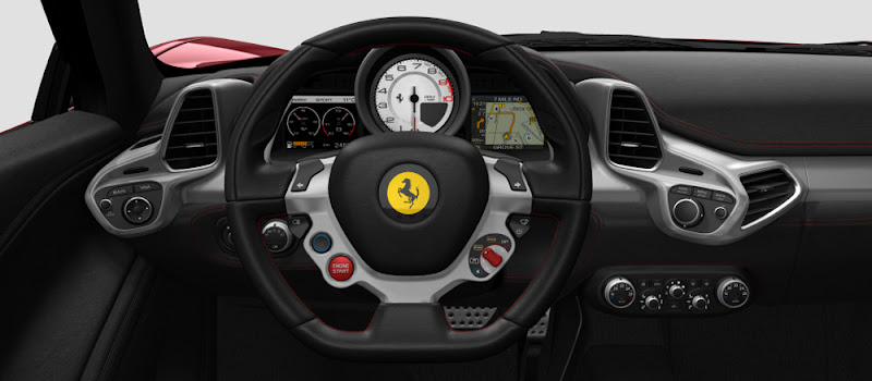 Photo: Get on board of the 458 Italia, take the steering wheel and ... take control of the car! The commands on the steering wheel, the panel directly in front of the driver with, amongst other data, the Vehicle Dynamic Assistance, to check the car's status. This is just a part of the great driving pleasure and the emotions only a Ferrari can offer. Discover the details: http://bit.ly/nePeOg