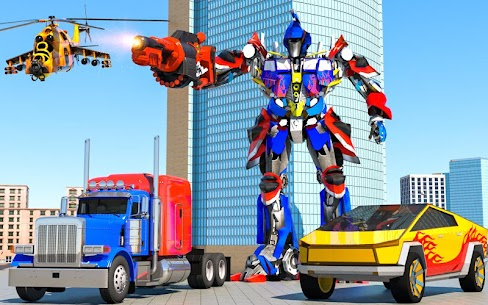 Cyber Truck police Robot Transform 5