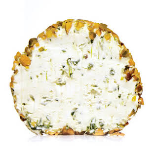 Green Goddess, Pistachio, and Goat Cheese Ball.