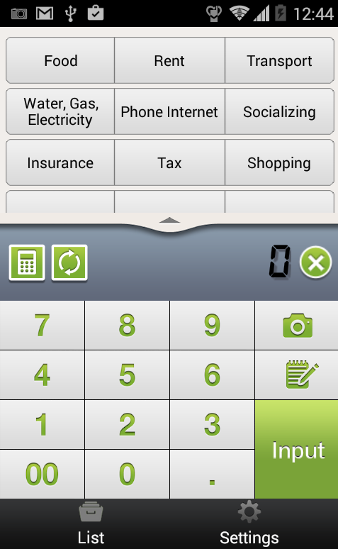 Quick Money Recorder-Budget- screenshot