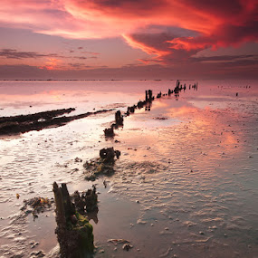 low tide by Rodrigo Layug - Landscapes Waterscapes ( nature, waterscape, sunrise, landscape )