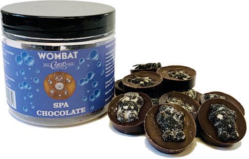 Spa Chocolate - Mörkchoklad & saltlakrits rullad i salmiakpulver - Wombat Candies