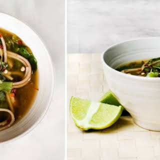 Spinach and Soba Noodle Soup.