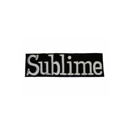 Sublime - Svart/Vit Text Logo - Tygmärke