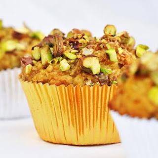 Orange Banana Muffins With Pistachios.