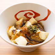 Simmered Tofu Combined with Plum Sauce on Rice
