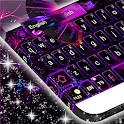 Purple Flame GO Keyboard theme icon