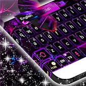 Purple Flame GO Keyboard theme
