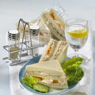 Layered Tuna Salad Sandwiches.