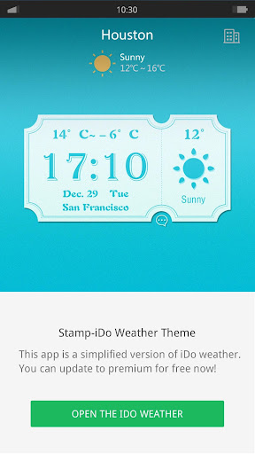 Ticket - iDO Weather widget