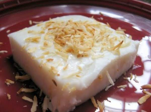 Haupia Sweet Coconut Cream Custard Cubes Recipe
