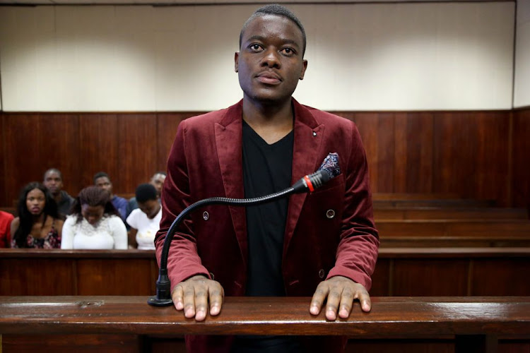 Fees Must Fall activist Bonginkosi Khanyile in the Durban Regional Court on July 1 2018