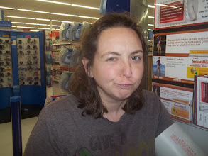 Photo: Making faces and checking my blood pressure, why not have fun while we're in the pharmacy area?