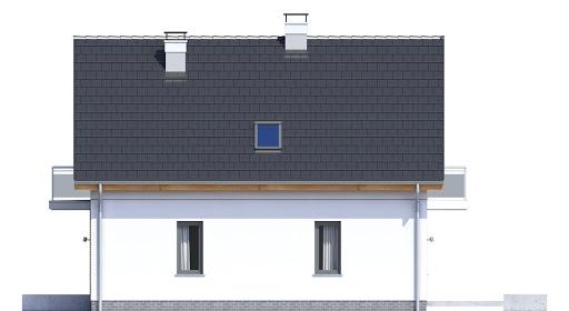 Baset 1 bez garażu - Elewacja prawa