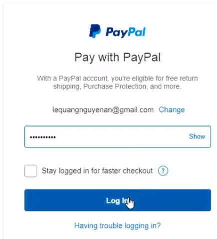 Đăng ký Fatcow Hosting- Thanh toán Paypal tiếp