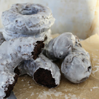 Glazed Chocolate Cake Doughnuts