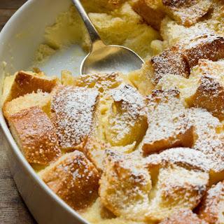 Make-Ahead Eggnog French Toast Casserole.