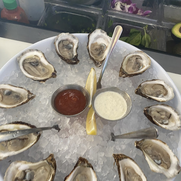 Fresh Oysters with gluten free sauces